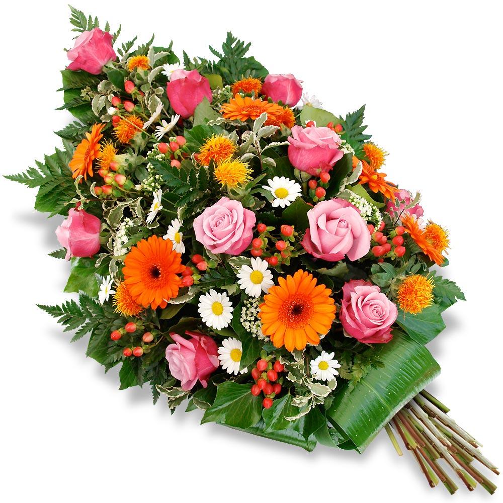 Deuils et enterrements les fleurs deuil gerbe de fleurs for Bouquet de fleurs pour un homme