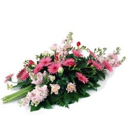 Les fleurs deuil Gerbe de fleurs piquées Olympe - 123fleurs