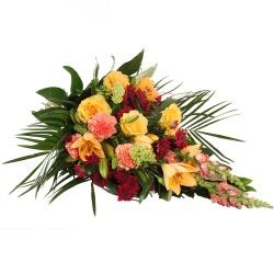 Les fleurs deuil Gerbe main Epicédion - 123fleurs