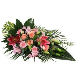 Les fleurs deuil Gerbe main Laudatione - 123fleurs