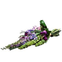 Les fleurs deuil Gerbe main Pensées - 123fleurs