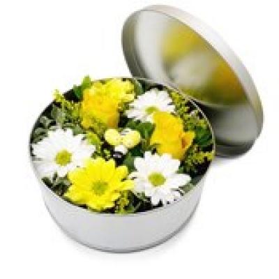 Original fleurs fraiches en boite jardin champ tre for Bouquet de fleurs dans une boite