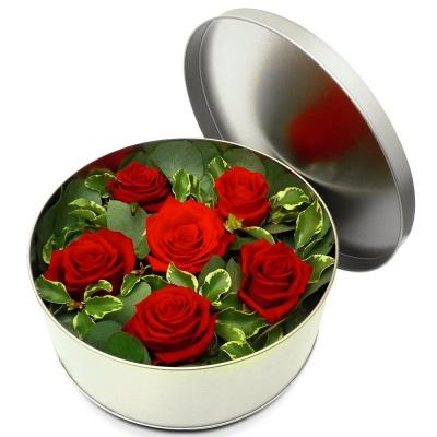 Original fleurs fraiches en boite jardin myrtille for Bouquet de fleurs dans une boite