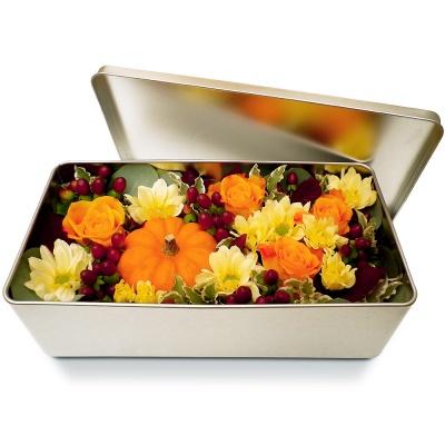 Bouquet de fleurs en boite meli d 39 automne livraison en 4h for Bouquet de fleurs dans une boite
