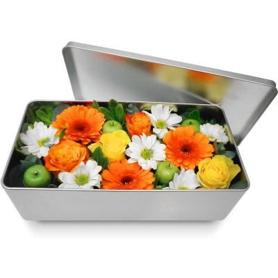 Bouquet de fleurs en boite m li m lo de printemps for Bouquet de fleurs dans une boite