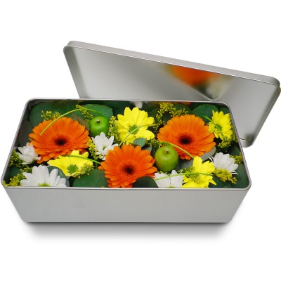 Original fleurs fraiches en boite m li m lo ensoleill for Bouquet de fleurs dans une boite