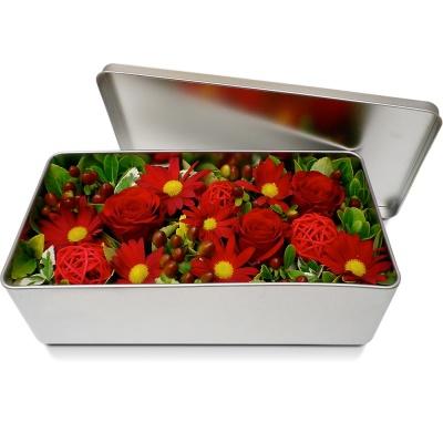 Bouquet de fleurs en boite m li m lo rouge livraison en 4h for Bouquet de fleurs dans une boite