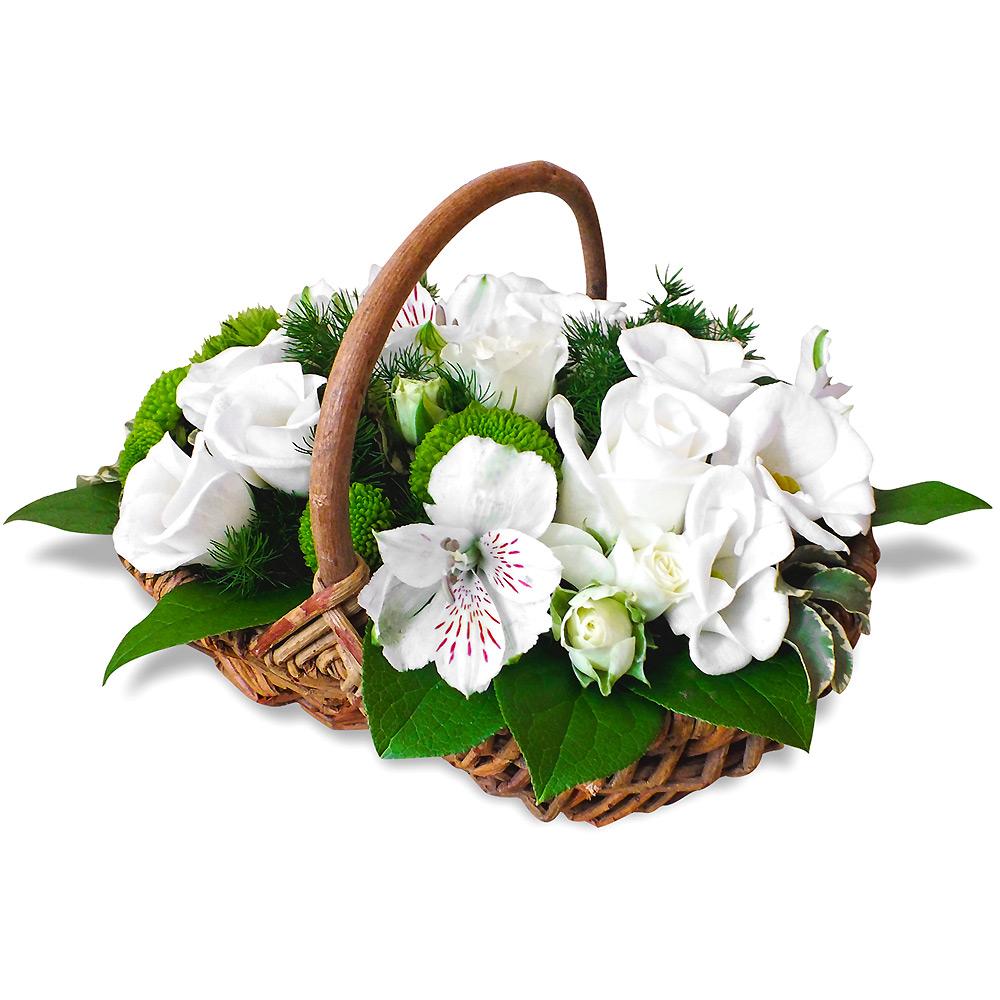 livraison de fleurs en 4h composition de fleurs panier ang lique. Black Bedroom Furniture Sets. Home Design Ideas