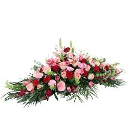 Les fleurs deuil Raquette de fleurs Acerra - 123fleurs