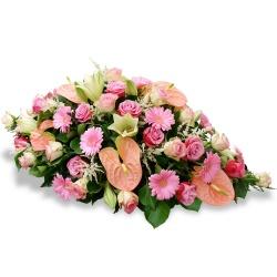 Les fleurs deuil Raquette de fleurs Avesta - 123fleurs