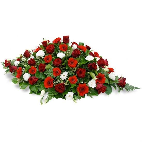 Raquette de fleurs deuil Fidès - Livraison de fleurs 8977da98a414