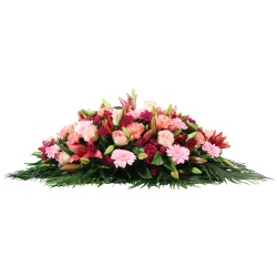 Les fleurs deuil Raquette de fleurs Elatio - 123fleurs